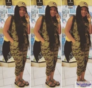 Photos: Iyabo Ojo Shows Off Her Gangster Chic Side With Nose Ring & Camouflage Attire
